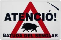 Senyalització batuda porc senglar
