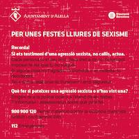 Per unes festes lliures de sexisme