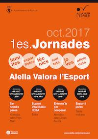 Cartell 1es Jornades Alella Valora l'Esport