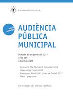 Audiència Pública 10 de gener de 2017