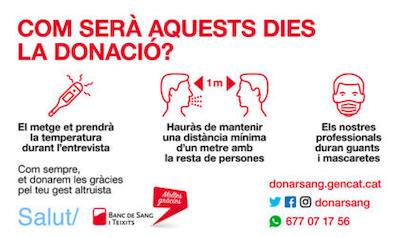 Mesures donació de sang